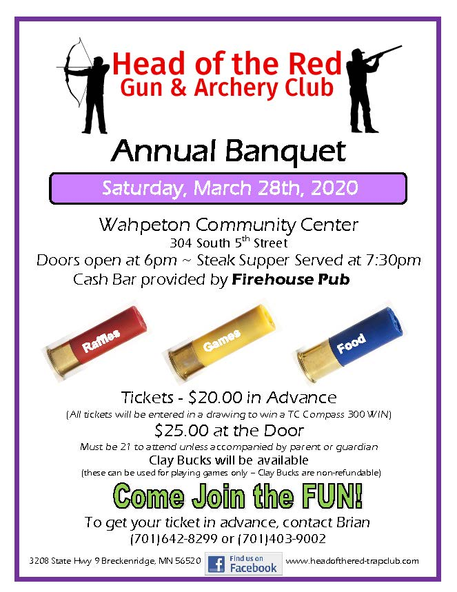 Flyer for 2020 Banquet